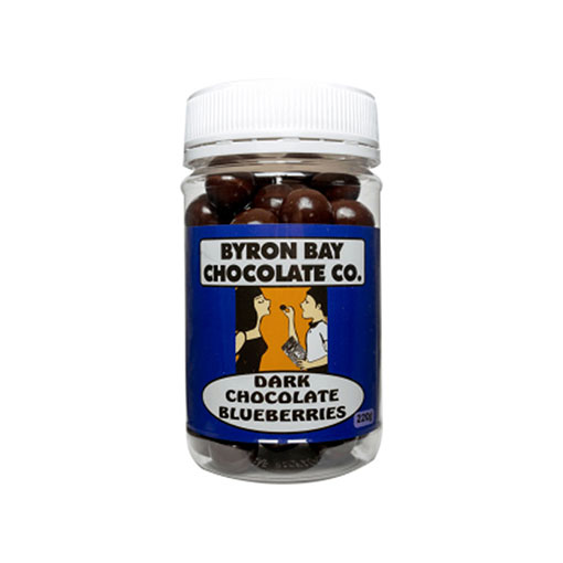 BYRON BAY CHOCOLATES – DARK BLUEBERRIES JAR