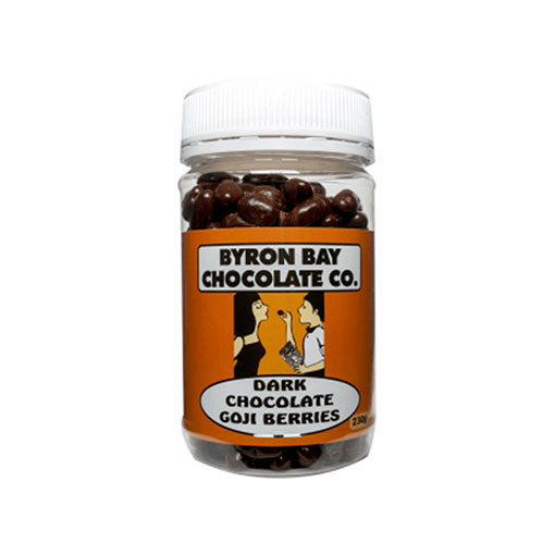 BYRON BAY CHOCOLATES – DARK GOJI BERRIES JAR