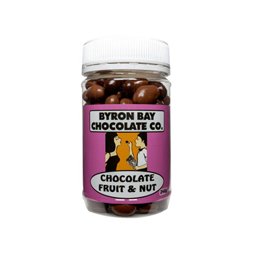 BYRON BAY CHOCOLATES – MILK AND DARK FRUIT AND NUT JAR