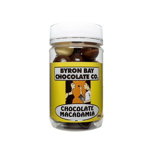 BYRON BAY CHOCOLATES – MILK  DARK AND WHITE MACADMIA JAR