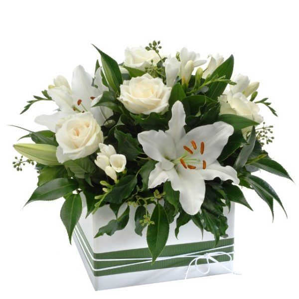 Ivy Lane Flowers & Gifts - Purity Arrangement